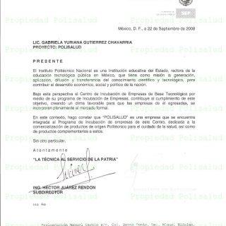 Carta aceptación IPN
